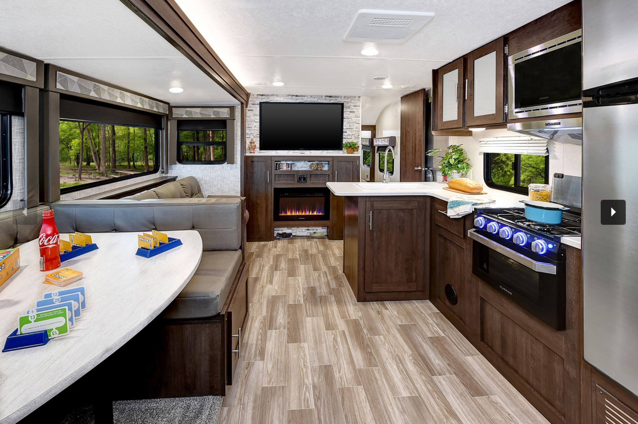 29' Salem Trailer with Slide-out Kitchen & Dinette View