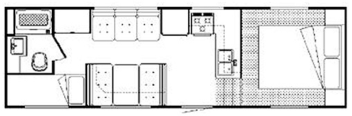 25' Frontier 5th Wheel Floorplan