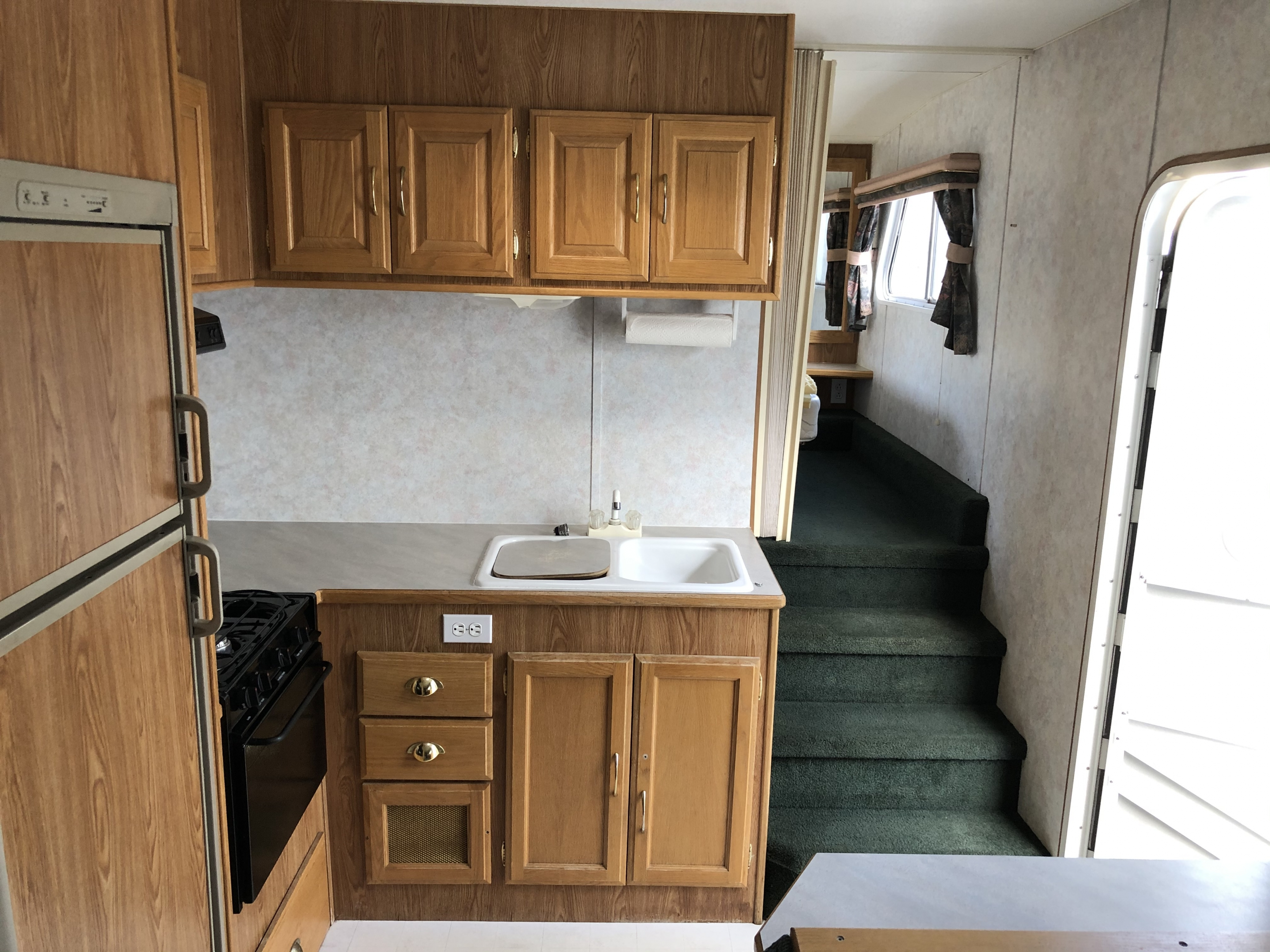 25' Frontier 5th Wheel Kitchen interior view