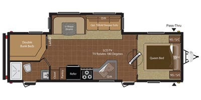 HideOut 29 ft Travel Trailer Floor plan