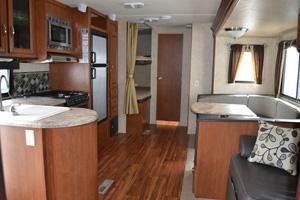 27' Salem Trailer with Slide-out Kitchen, Dinette, & Bunkbed interior view