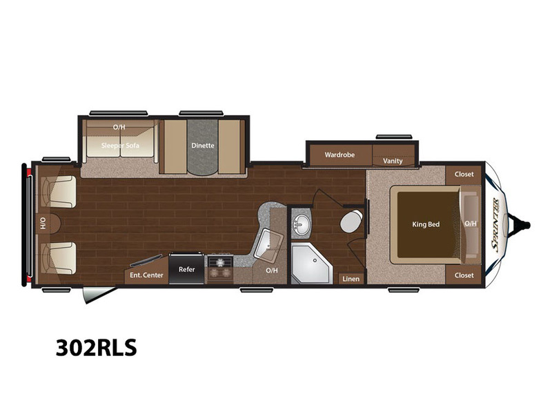 34' Sprinter Trailer Floorplan