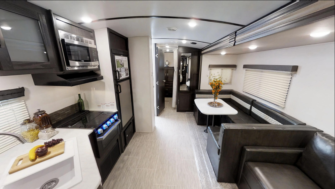 33' Surveyor Trailer Kitchen