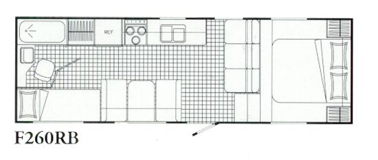 26 Topaz 5th Wheel Floorplan