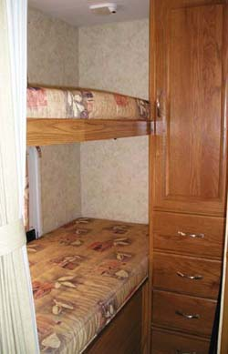 27' Topaz Trailer Bunk beds View