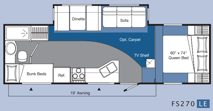 Topaz 27ft 5th LE 2004 Floor Plan